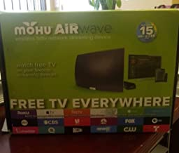 2017 Mohu AirWave Premium Edition Wireless OTA Antenna, Programming Guide, Mohu TV app (30 Mile Range)- Discontinued