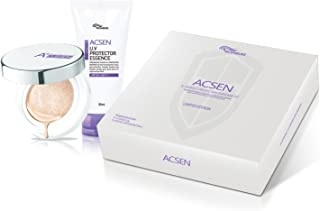 TROIAREUKE ACSEN Protection Kit Limited Edition, A+ Cushion Foundation and ACSEN UV Protector Sun Essence, Base Makeup Set