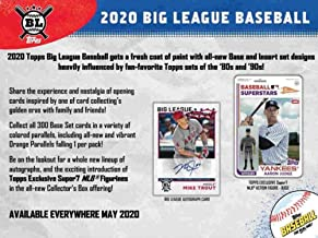 2020 Topps Big League Baseball Hobby Collector Box (5 Packs/10 Cards)
