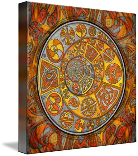 Wall Art Print entitled Celtic Crescents by Kristen Fox