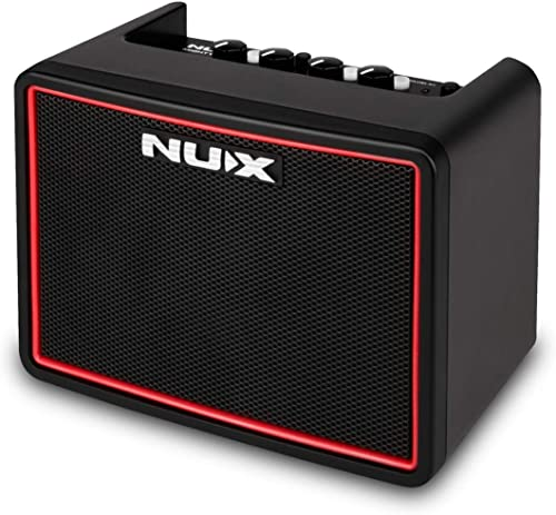 new arrival NUX sale Mighty Lite BT Mini Portable Modeling Guitar Amplifier 2021 with Bluetooth (Black/Red) sale