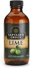 Captain's Choice Lime Aftershave 4.0 oz After Shave Pour