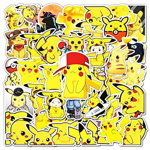 50 / 100PCS waterproof cartoon children's Pokemon toy mixed sticker scooter bike mobile phone laptop travel bag funny graffiti