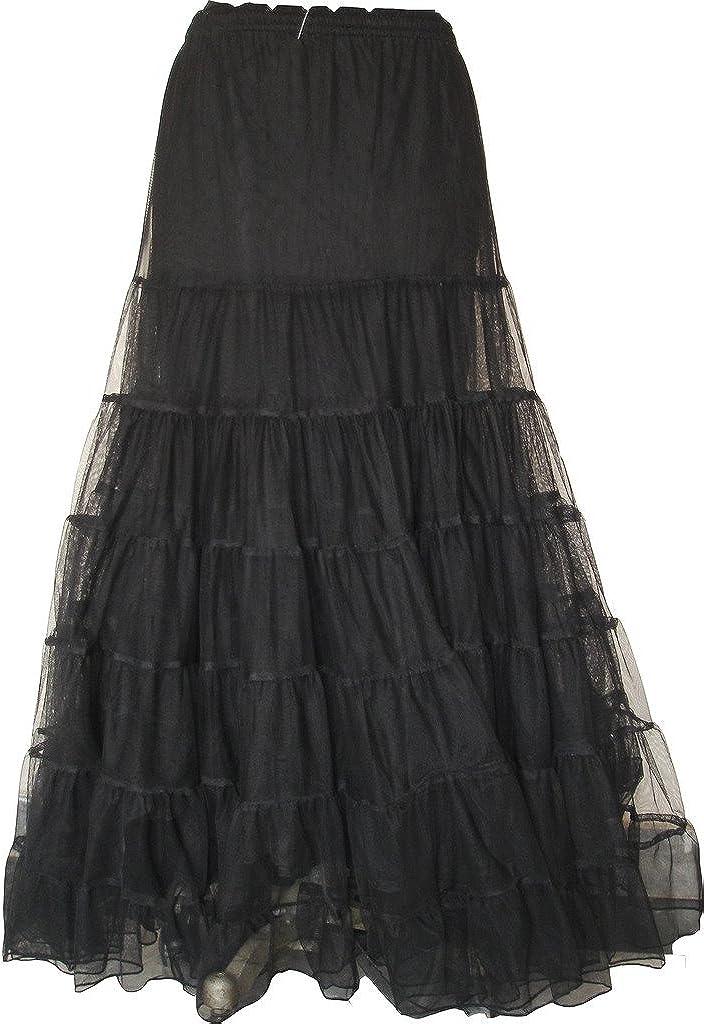 BARES Punk Prom Wear Victorian Net Skirt One Size Black