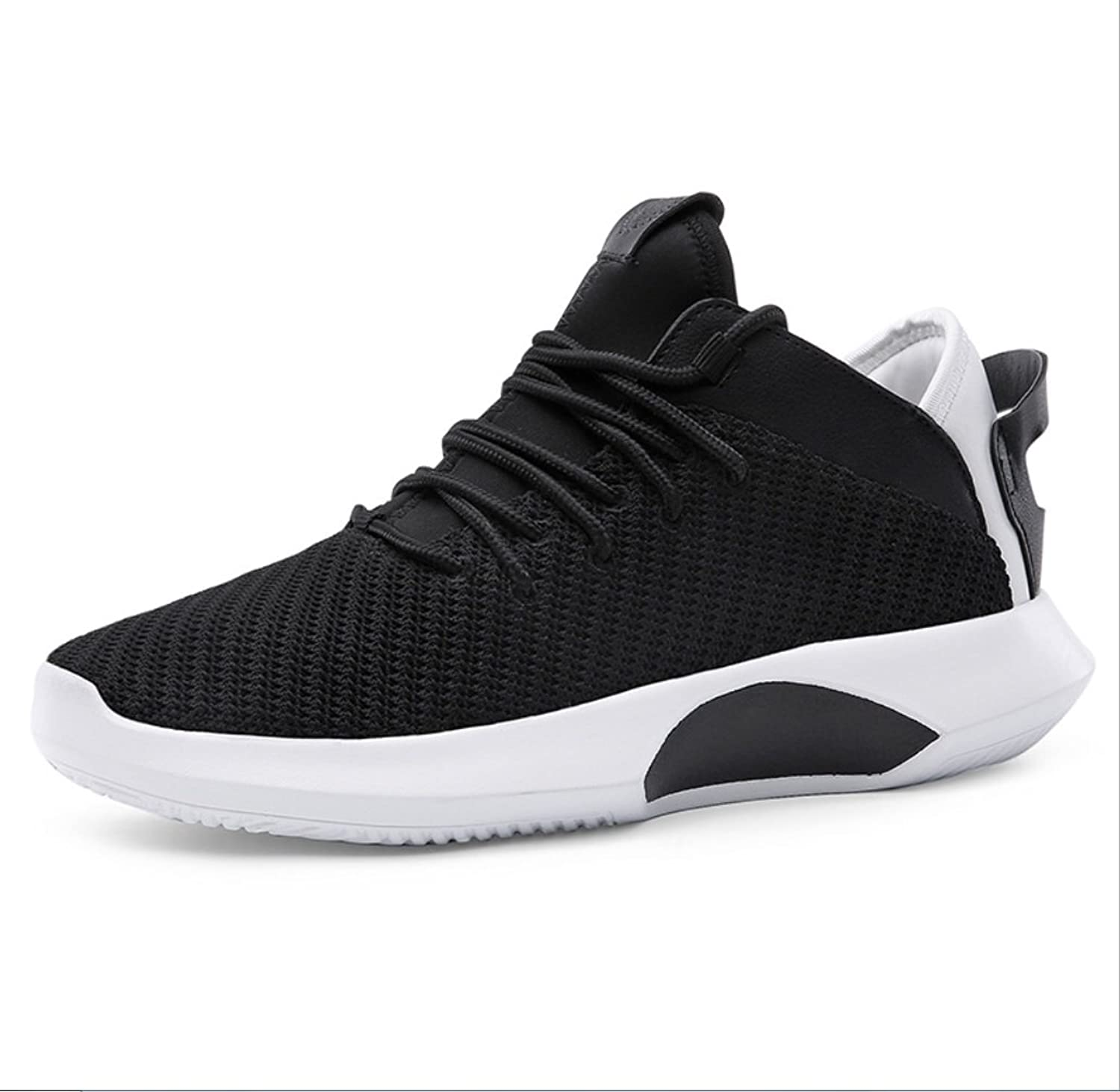 SHANGWU Men's shoes Men's Lightweight Casual shoes Summer Men's shoes Marathon Running shoes Student Mesh Breathable Running shoesMen's Wear-resistant shock-absorbing basketball shoes