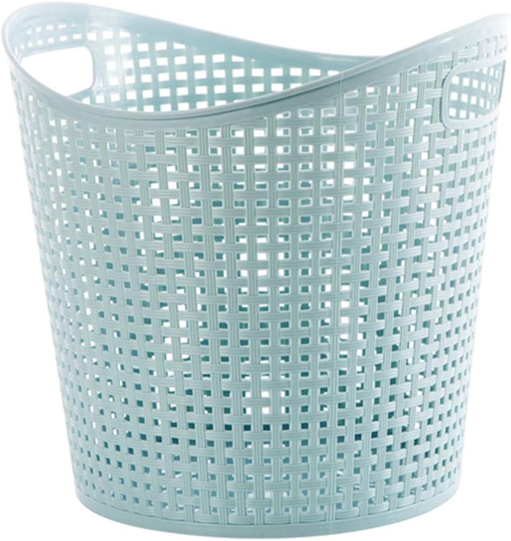 ZHANGQIANG Storage Basket Laundry Basket Homewares Plastic Laundry Basket Storage Flexible Tall Clothing Washing Bag (color   bluee, Size   39  37.5cm)
