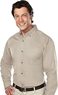 770 Mens 60/40 stain resistant long sleeve twill shirt