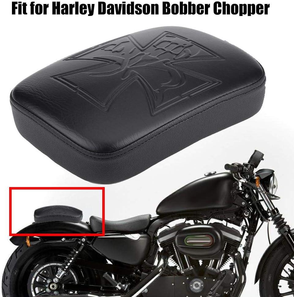 sedile di cuscino passeggero posteriore per ventosa per moto Bobber Chopper Sedile per moto