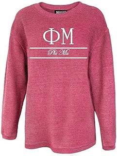 Phi Mu Sorority Corded Crew Sweatshirt