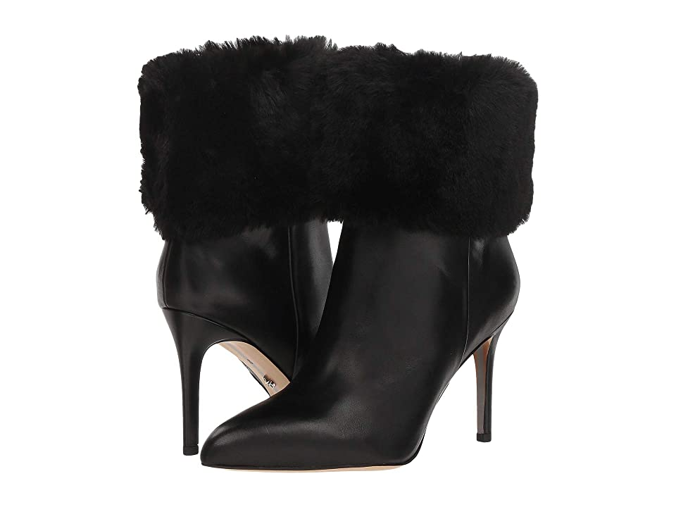 Sam Edelman Oleana (Black Modena Calf Leather/Plush Fur) Women