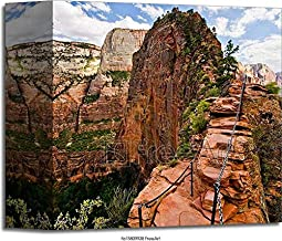 Barewalls The Angels Landing Hike Takes You All The Way Up That Ridge of Rock, Taken at Zion National Park in Utah Gallery...