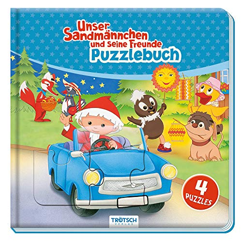 Trötsch Unser Sandmännchen Puzzlebuch mit 4 Puzzle Sandmann: Beschäftigungsbuch Entdeckerbuch Puzzlebuch