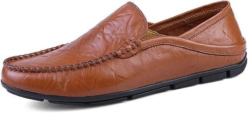 Yajie-schuhe, Herrenmode Soft & Super Light Mokassins Wave Sole Slip On Driving Loafer (Farbe   Braun, Größe   36 EU)