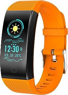 SHOUHUAN Pulsera Actividad Inteligente GPS Pulsera Deportiva IP68 Monitor Cardiaco Reloj Pulsaciones Niños Mujeres Hombres Compatible con iOS y Android Orange