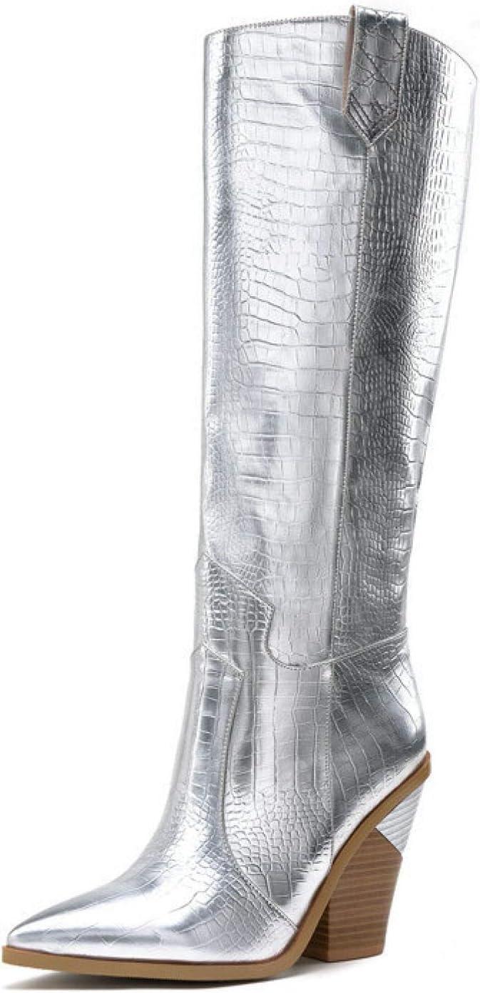 FMTZZY High Heels for 55% OFF Women Womens Regular store Western Boot Cowboy Knee