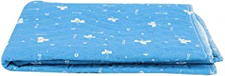 Undermatta, bomull andningsbar återanvändbar fyra lager halkfri äldre barnmadrass skötbädd (färg: blå)