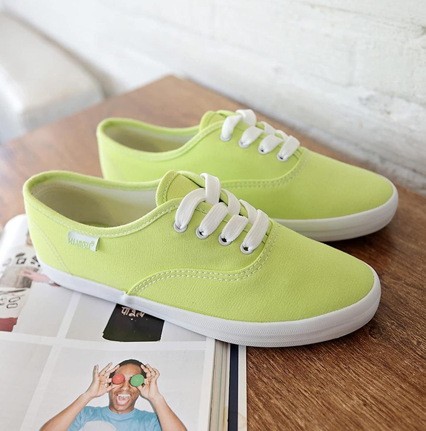 XUEXIN White Female shoes Leisure shoes Students Sneakers Women Breathable Summer Fall Flat-White Flat Canvas