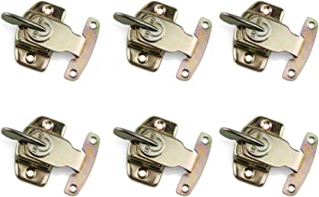 Table Locks, URBEST 6PCS Iron Brass Plated Dining Table Buckles Connectors Table Abalone Fasteners Hardware Accessories
