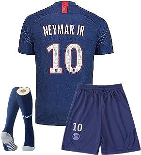 Paris St Germain 19-20 Season Home #10 Neymar T Shirt Kids Or Youth Soccer Shirt/Shorts/Socks Blue