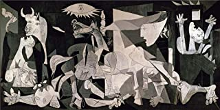 Pablo Picasso,Guernica 1937,Oil Paintings Modern Canvas Prints Artwork Printed on Canvas Wall Art for Home Office Decorations-899 (Unframed,16x32inch)