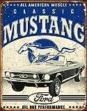 Tabletrade Plaque en métal style vieilli pour voiture Motif Mustang 20,3 x 30,5 cm