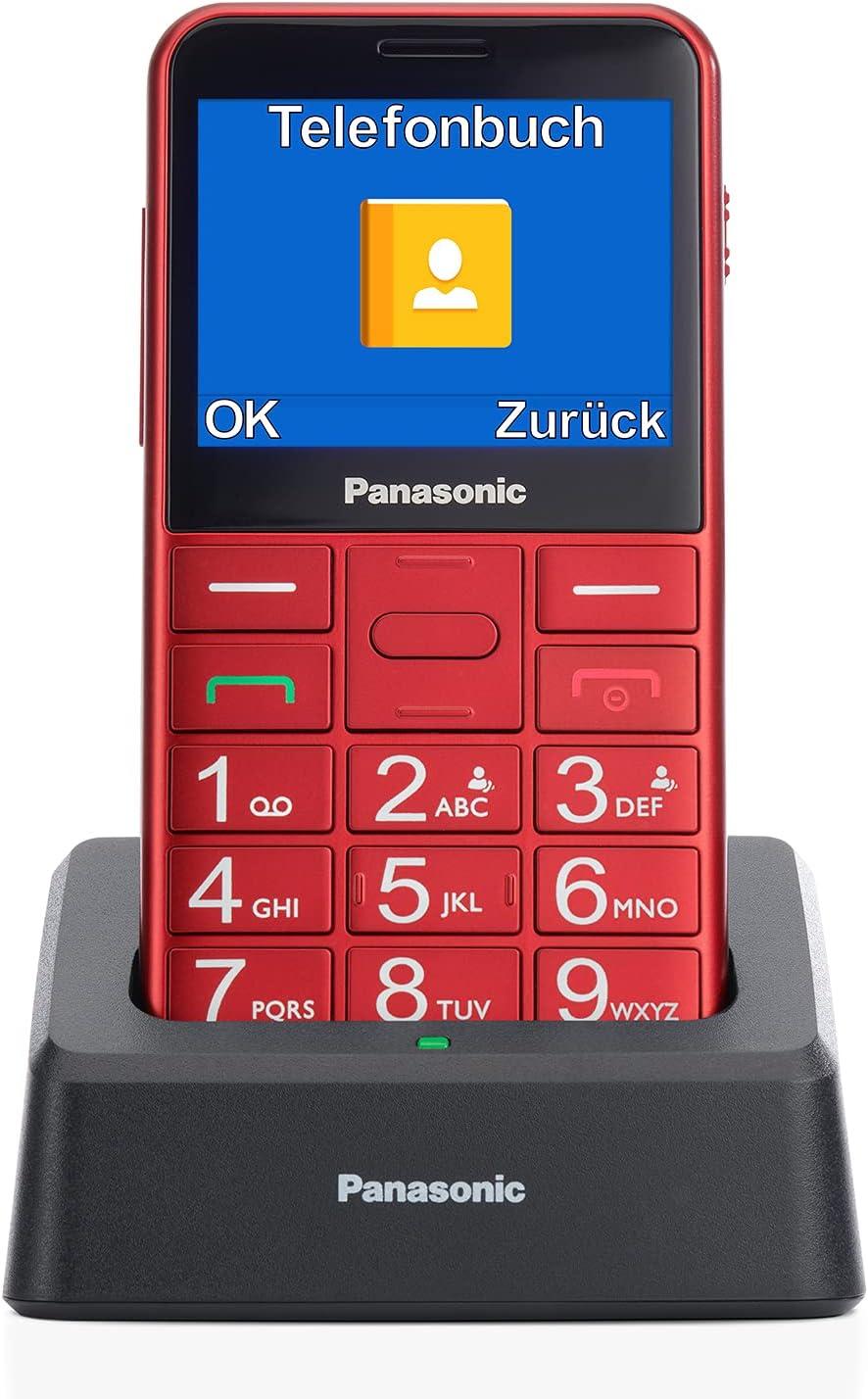 Panasonic KX-TU155 - Teléfono móvil SIM para personas mayores, pantalla de 2.4