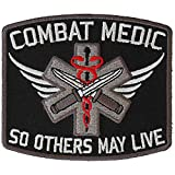 Combat Medic Patch So Others May Live - 3.5x3 inch. Embroidered Iron on Patch