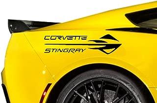 Stingray Emblem Vinyl Decal 20 Inches, Fits All Chevy Corvette's C2 C3 C4 C5 C6 C7, Black