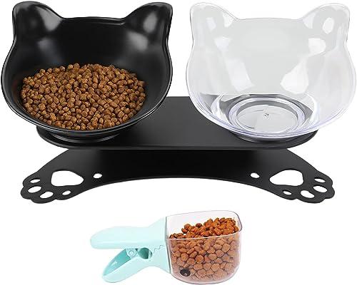 Legendog Cuenco del Gato, Determinado Antideslizante Cuello inclinable Tazón Protector del alimento para Mascotas con...