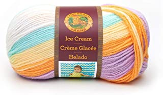 Lion Brand Yarn 923-202 Ice Cream Yarn Lemon Swirl