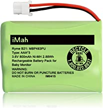 iMah Ryme B21 Battery Compatible with Motorola Baby Monitor MBP33XL (only fits MBP33S MBP36 MBP36S newer 800mAh version) MBP481 MBP482 MBP483 (Don't fit MBP33 MBP33S MBP36 MBP36S older 900mAh version)