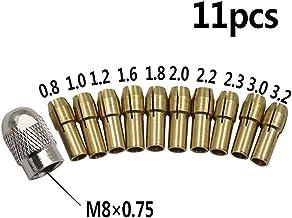 Taladro Boquilla Set 11pcs Duradero Herramienta Mini 0.5-3.2mm Eléctrico Amoladora Tuerca Tary Cobre con Tornillo Tapa Portabrocas