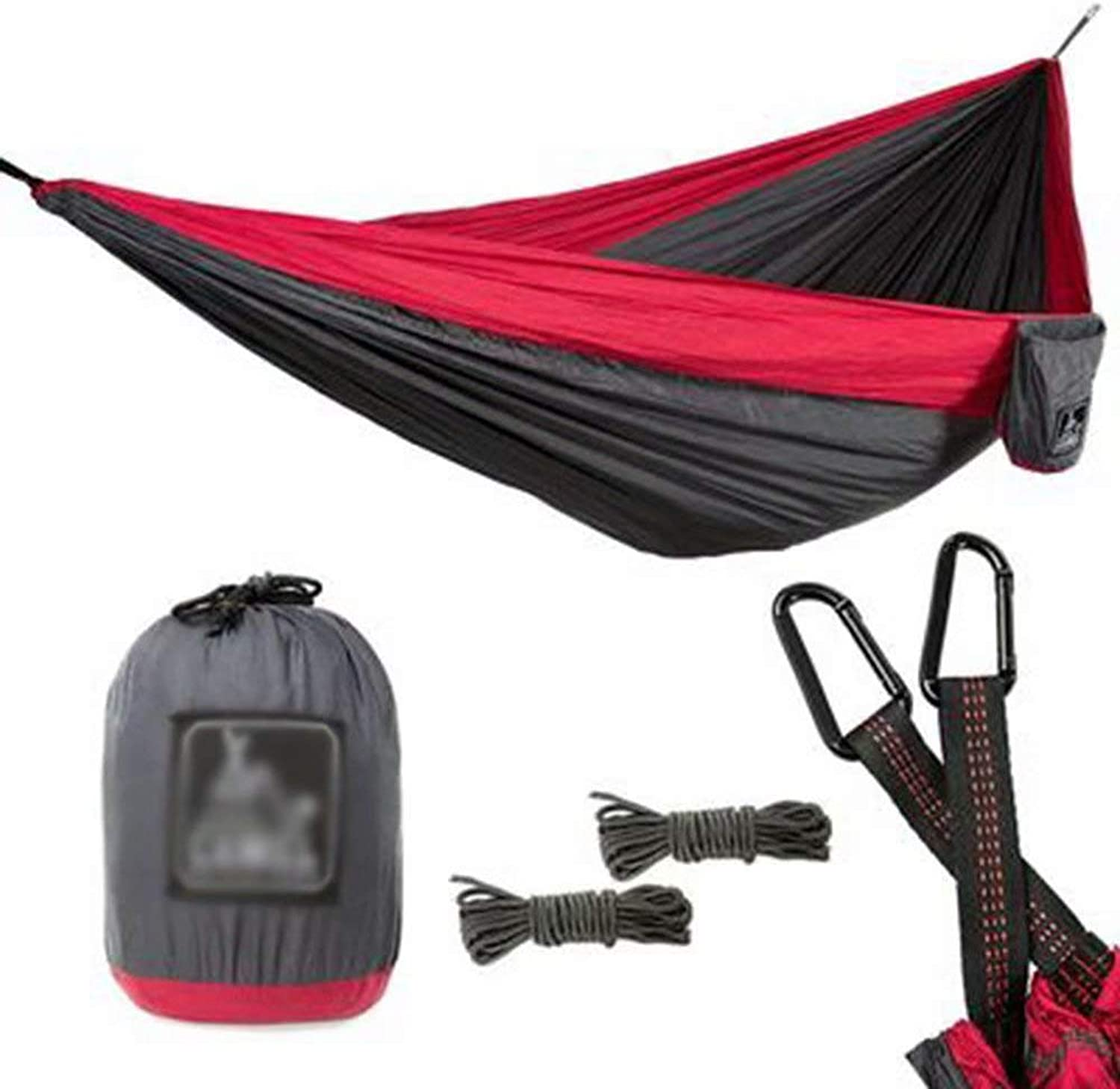 Outdoor Leisure Parachute Cloth Nylon Hammock Double Increase widening Ultralight Hammock 300x200cm Swing