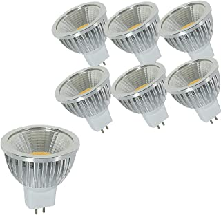 OUGEER 6 bombillas LED GU5.3 MR16 AC85 – 265 V, blanco cálido, 3000 K, 6 W, 60 W, equivalente a bombilla halógena MR16, 6 W, casquillo GU5,3, sin parpadeo, 49 mm de diámetro, aluminio, no regulable