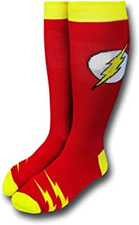 The Flash Classic Logo Men's Red Crew Socks