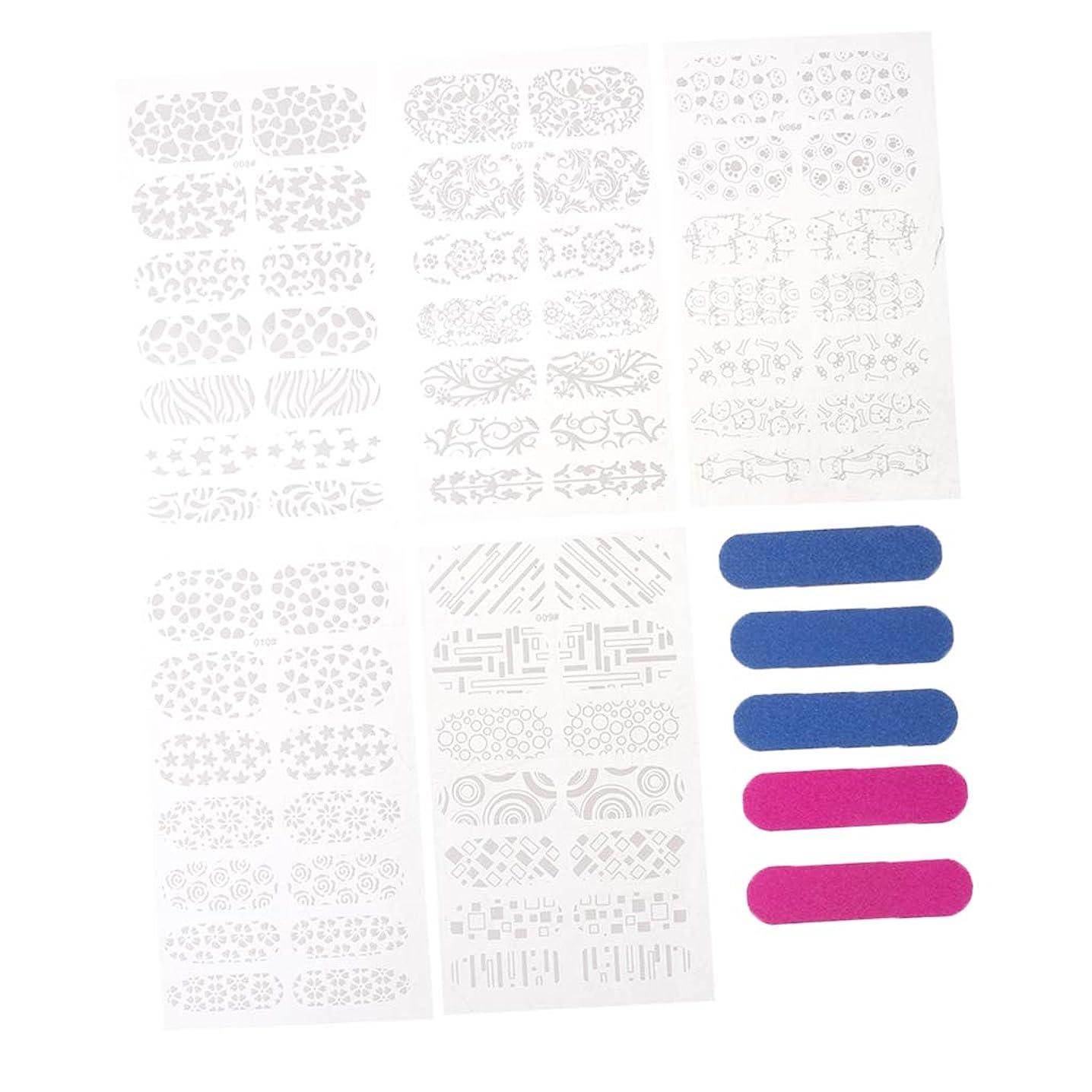 ディベート適応的委任するB Baosity 5枚 ネイルアートステッカー ネイル装飾 マニキュア 天然爪 人工爪 ネイル道具 2タイプ選べ - B