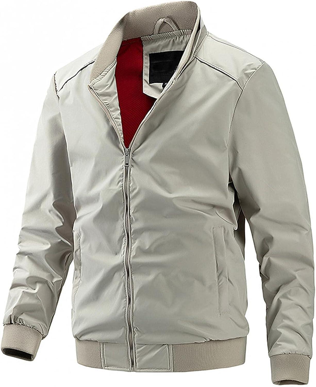 Beshion Men Coats Casual Lightweight Jakcet Full Zip Long Sleeve Pockets Autumn&Winter Tactical Sport Outwear Blouse