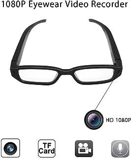 83c7a77285 Anviker Full HD 1080p Mini cámara espía cámara oculta,gafas de vigilancia  portátiles con 5Mega