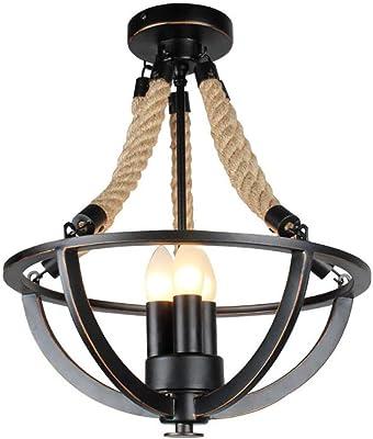 Vintage Industrial Chandelier, Ceiling Light E27 Lamp Holder ...