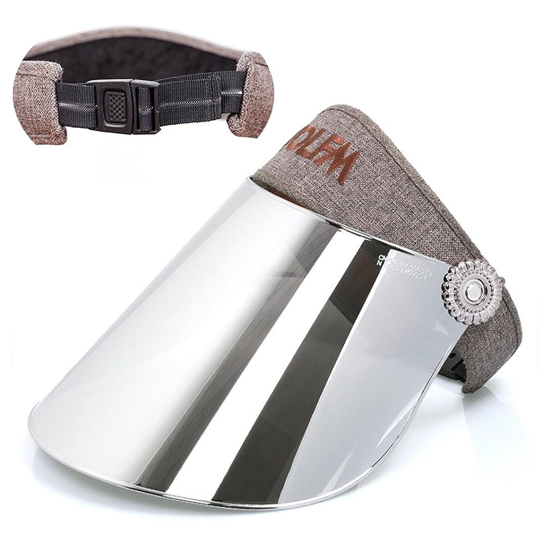 ピアースプレゼン衝突コースサンバイザー レディース ハット レインバイザー 自転車 防風 バッテリカー UVカット UPF50+ 紫外線対策 日焼け対策 つば広  帽子 ミラーシールド 調整可能 吸汗速乾
