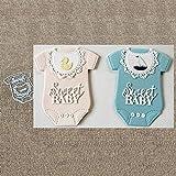 Stanzschablone Baby Strampler Scrapbooking Stanzbögen Stanzmaschine für Scrapbooking, Kartenbasteln, Journaling Silber