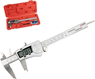 LUOWAN Accurate Measurement Electronic Digital Caliper, Stainless Steel Body Measuring Tool with 4 Modes and LCD Display, ...