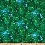 Northcott Mehrfarbiger Stoff mit weihnachtlichen