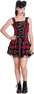 Hell Bunny Gothic Punk Rock UK Corset Lace-up Tartan Mini Dress