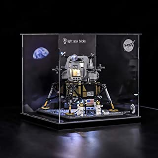 RAVPump Acrylic Display Case for Lego NASA Apollo 11 Lunar Lander - Clear Display Box Showcase Compatible with Lego 10266 ( Lego Set not Included )