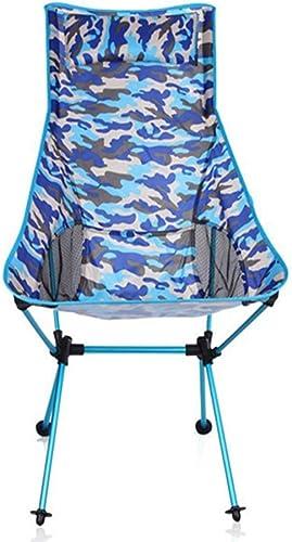 Kamiwwso Pliant Portable à Hauteur réglable, léger, Se Pliant dans Un Sac de Transport, Robuste, capacité de 120 kg de randonnée, Camping, Plage, extérieur (Couleur   bleu)