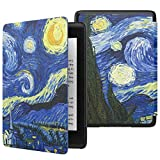 MoKo Case Fits Kindle Paperwhite (10th Generation, 2018 Releases), Thinnest Lightest Smart Shell Cover with Auto Wake/Sleep for Amazon Kindle Paperwhite 2018 E-Reader - Starry Night