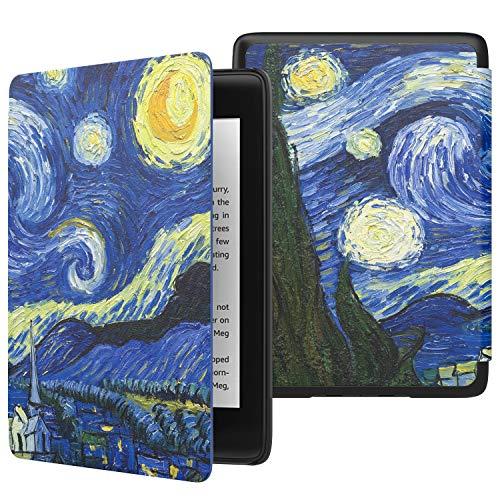 MoKo Funda para Kindle Paperwhite (10th Generation, 2018 Release), Funda de SmartShell Delgada y Ligera con Auto Sueño/Estela para Amazon Kindle Paperwhite E-Reader - Noche Estrellada