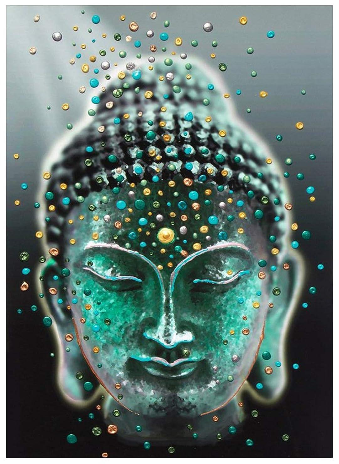 Mobicus 5D DIY Full Diamond Diamond Painting,Living Room Decorative Wall Stickers Wallpaper, Buddha(30X40CM/12X16inch)