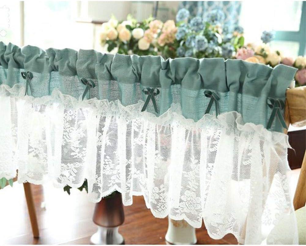 HLMBQ Floral Lace Tier Curtains Regular dealer Finally resale start L Bedroom Short Kitchen